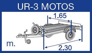Remolque motos Urbeni 3 Motos Básico