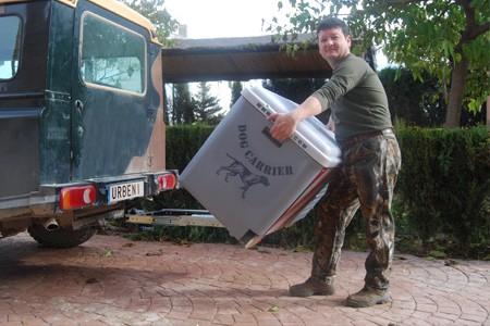 Dog Carrier guías extensibles montaje 2