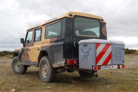 Dog Carrier guías extensibles montado en Land Rover