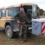 Dog Carrier guías extensibles montado en Land Rover 02