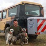 Dog Carrier guías extensibles montado en Land Rover 03