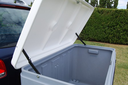 Cajón Dog Carrier tapa abierta