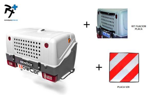 TowBox Dog V1 Gris +soporte + placa V20