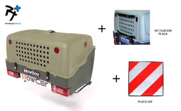 TowBox Dog V1 Verde +soporte + placa V20