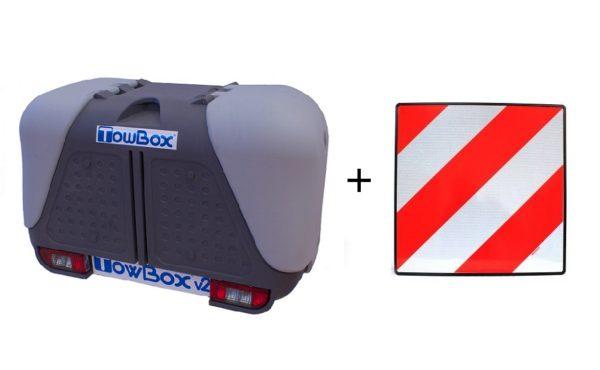 Portaequipajes TowBox V2 Gris + placa V20
