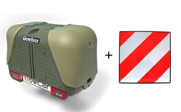 Portaequipajes TowBox V2 Verde + placa V20