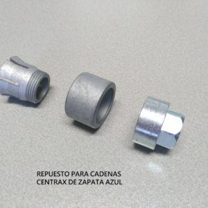 Centrax zapata azul tornillos repuesto