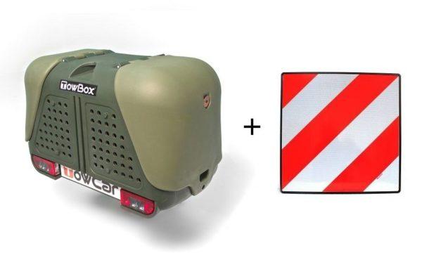 Portaperros TowBox V2 Dog Verde + placa V20
