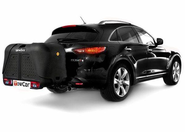 Portaperros V2 Dog Black edition en coche negro