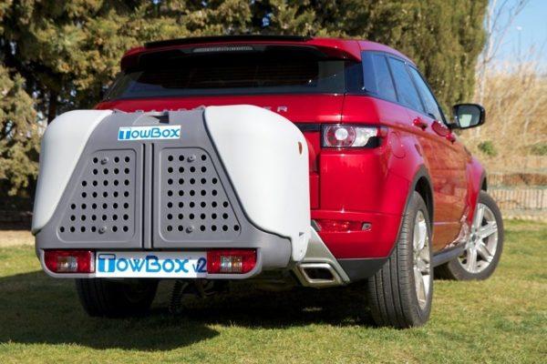 TowBox Dog V2 Gris en coche