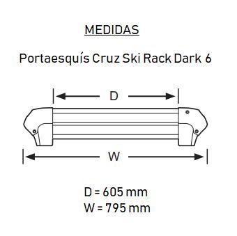 Medidas Ski Rack Dark 6