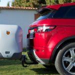 Portaequipajes Towbox V2 Gris posición de montaje en enganche