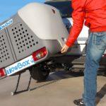 Portaequipajes Towbox V2 con ruedas de transporte