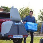Portaequipajes Towbox V2 cargando cajas