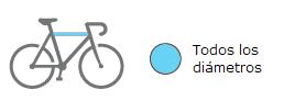 Amber II dimensiones cuadros bici soportados