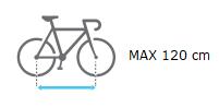 Amber II distancia max entre ejes bicicleta