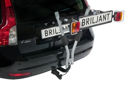 Portabicicletas plegable BRILJANT en coche