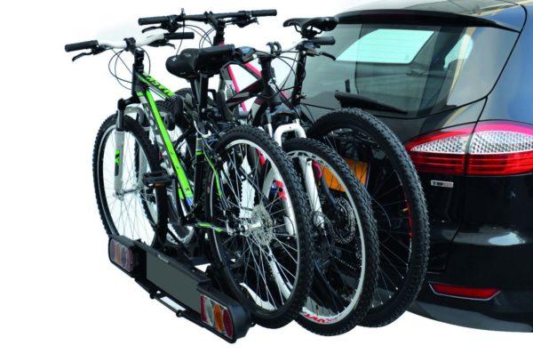 Portabicis Oria 3 cargado con bicis