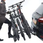 Portabicis Oria 3 bicis acionamiento pedal