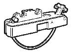 Sujeción barras cable acero