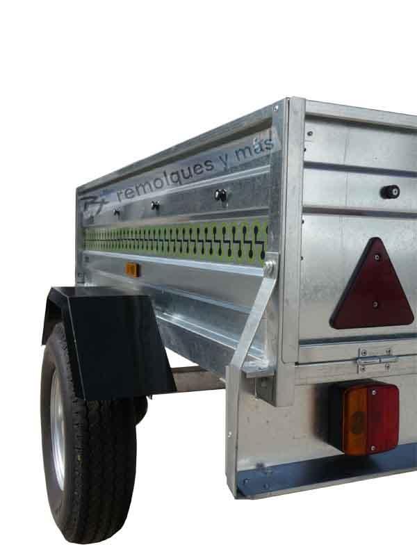 Remolque galvanizado carga 300 Kg.