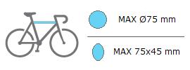Dimensiones maximas cuadros bicis de portabicis Uebler