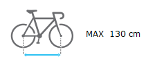 Uebler F22 distancia max entre ejes bicicleta