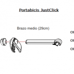 Brazo Medio 29cm Justclick 3